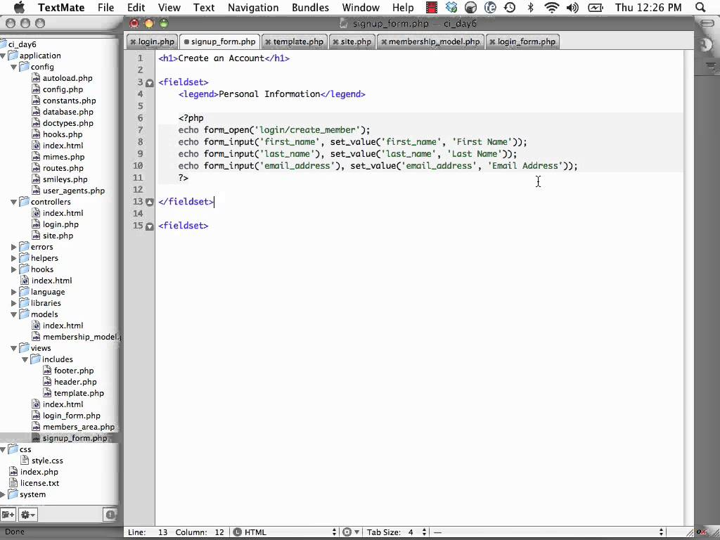 CodeIgniter From Scratch, Day 6 – Build A Site Info
