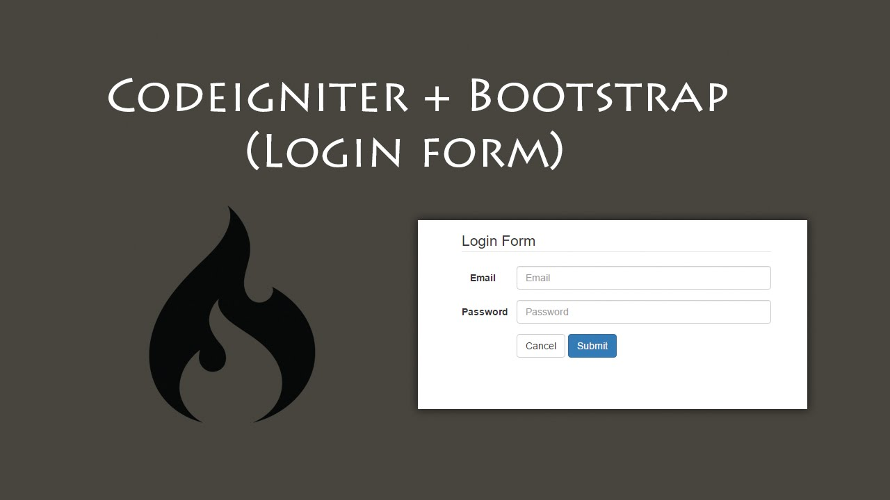 Login form with codeigniter and bootstrap build a site info falaconquin