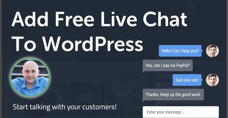how to add live chat to wordpress best free live chat service for websites build a site info. Black Bedroom Furniture Sets. Home Design Ideas